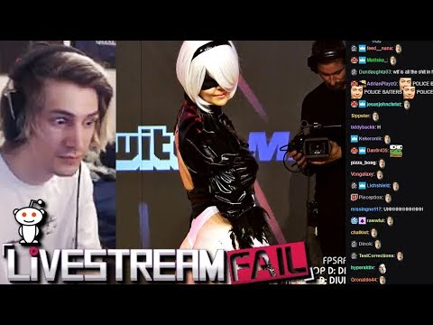 """xQc Reacts to Funny Clips From """"Reddit: LiveStreamFail"""" with Chat  GO AGANE!"""