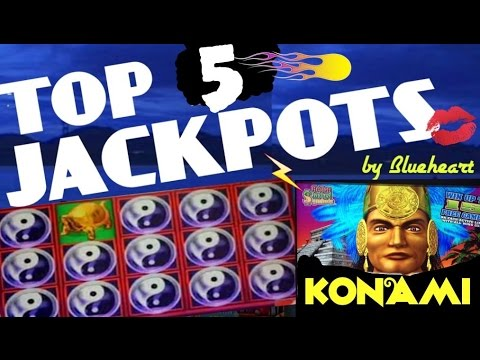 ★★ TOP 5 JACKPOTS ★★ BEST WINS from KONAMI slot machines- JACKPOTS/ BIG WINS
