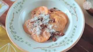 Cómo hacer ravioles rellenos de calabaza