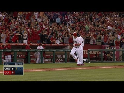 trouts - 6/7/14: Mike Trout launches a grand slam to center field off Chris Sale, tying the game at 5 in the bottom of the 8th inning Check out http://m.mlb.com/video...