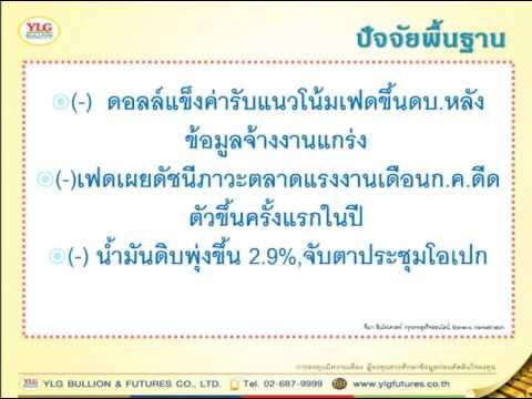 YLG บทวิเคราะห์ราคาทองคำประจำวัน 09-08-16