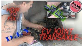 Video How to fix repair cv joint boot rubbers, replace clicking cv driveshaft, instructional tutorial MP3, 3GP, MP4, WEBM, AVI, FLV Agustus 2018