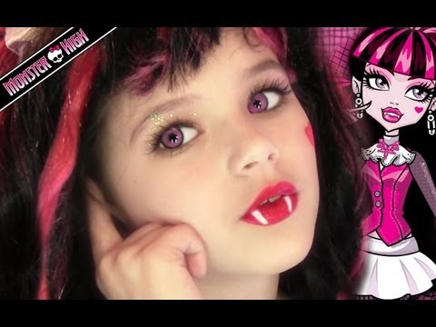 Draculaura Monster High Doll Costume Makeup Tutorial for Halloween or Cosplay | KittiesMama