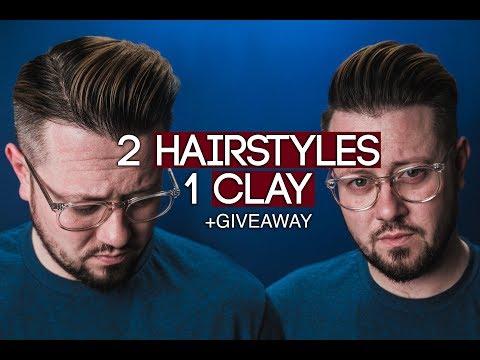 Mens hairstyles - Men's Hair Tutorial And GIVEAWAY l 2 Hairstyles with 1 Clay l 2018 Men's Hairstyling