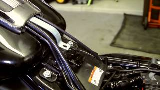 9. Exposing the Wiring and the Battery on a 2011 Harley-Davidson Road Glide Ultra