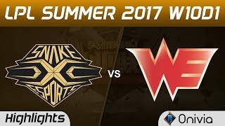SS vs WE Highlights Game 1 LPL SUMMER 2017 Snake vs Team WE by Onivia Make money with your LoL knowledge ...