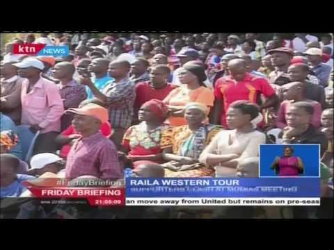 Supporters clash at Mumias meeting during Raila's tour in western region