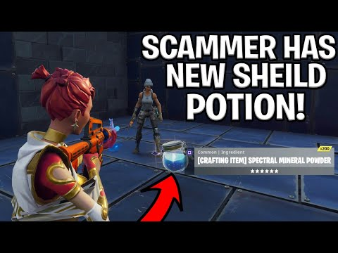 Scammer With Brand New Potion Scams Himself! (Scammer Gets Scammed) Fortnite Save The World