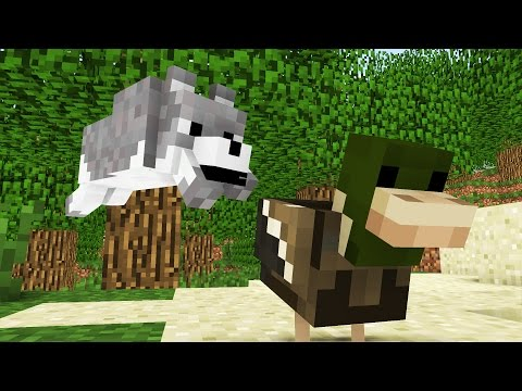 Wolf Life: The First Hunting -- Cubic Minecraft Animation (видео)