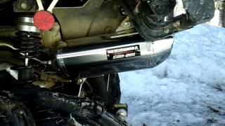 8. 2014 Can Am Outlander Yoshimura factory slip on