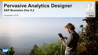 SAP Busines One 9.2 Pervasive Analytics Designer