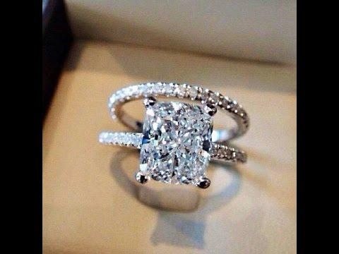 Rect Ring - Ladies Sterling Silver Wedding Ring Set