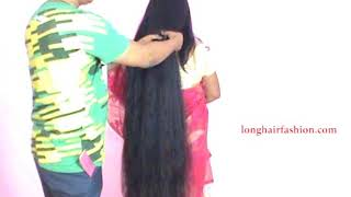 Rapunzel Extra Thick Braid Play with knee Length Thick Hair Play