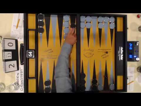 2016 Backgammon World Championship Final - Second Set Game 2 (Abridged)