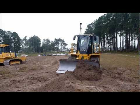 764 - grading out some topsoil with the high speed dozer.