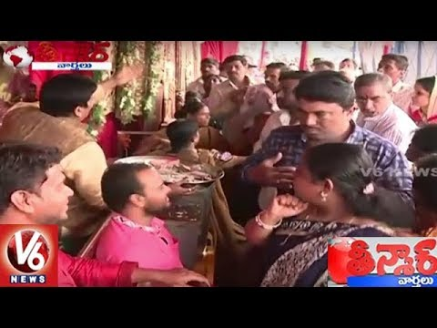 Devotees Stand In Que For 1 Rupee Coins At Bhagyalakshmi Temple | Teenmaar News