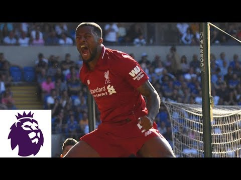 Wijnaldum's Powerful Strike Puts Liverpool Ahead Against Cardiff City | Premier League | NBC Sports