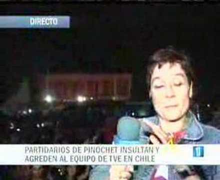 Periodista de Televisión Española (TVE) agredida en Chile (en vivo)