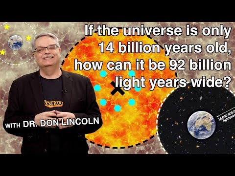 If the universe is only 14 billion years old, how can it be 92 billion light years wide?