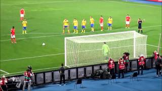 David Alaba trifft gegen die Schweden vom Punkt
