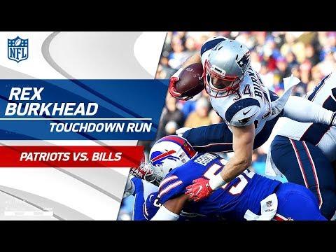 Video: Brady & Gronk Lead Pats Downfield & Burkhead's TD Caps Off Drive! | Patriots vs. Bills | NFL Wk 13