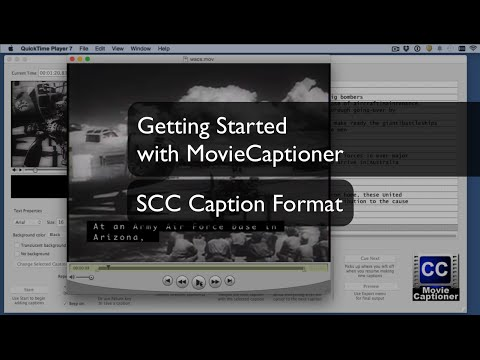 Getting Started with MovieCaptioner: The SCC Caption Format