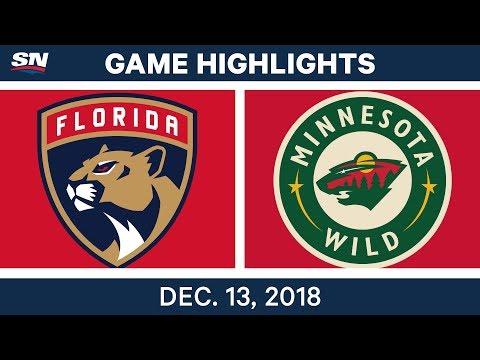 NHL Highlights  Panthers vs. Wild - Dec 13, 2018