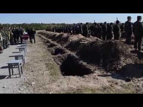 Похороны 54 неизвестных украинских солдат