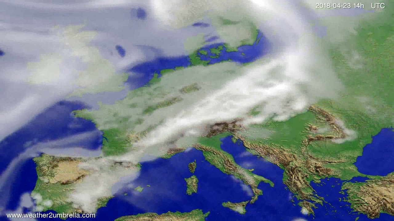 Cloud forecast Europe 2018-04-21