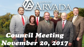 Preview image of City Council Meeting - November 20, 2017