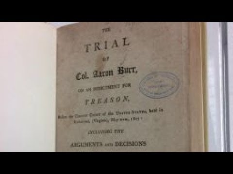 The Trial of Vice President Aaron Burr
