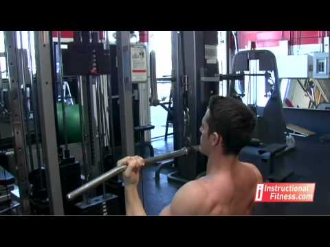underhand - Personal fitness trainer Joe Tong teaches the proper way to do underhand pull downs. Exercises: The lats. If you have any fitness questions, please submit th...