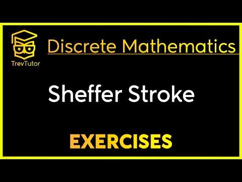[Discrete Mathematics] Sheffer Stroke Examples