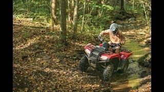 10. 2014 Honda Rancher 420 4x4 Trail Ride | New York
