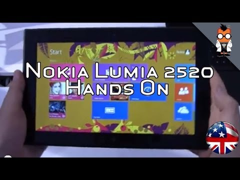 Nokia Lumia 2520 Tablet Hands On – 10.1-inch Windows RT 8.1