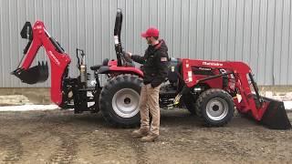 1. All New Mahindra 2638 HST Tractor w/ Loader & 60B Backhoe - Walkthru