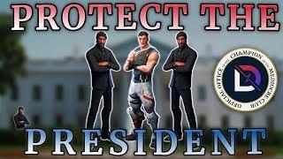 Fortnite - Protect The President! - Ninja, TimTheTatMan, BasicallyIDoWrk  - June 2018 | DrLupo