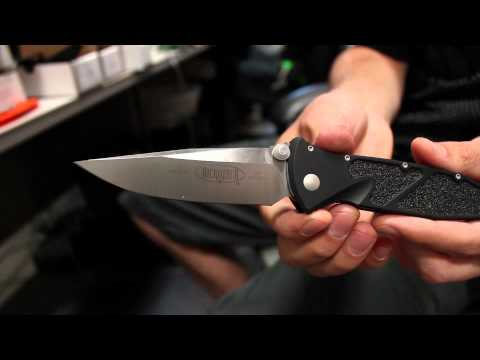 "Microtech Socom Elite M/A Folding Knife (4"" Black Plain) 160-1"