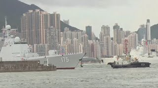 China's sole operating aircraft carrier visits Hong Kong to commemorate the region's handover from British to Chinese rule 20 years ago. Report by Victoria ...