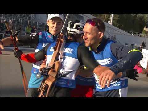 Чемпионат России по летнему биатлону. Как Бабиков и компания победили в Тюмени - в итоговом клипе мужской эстафеты