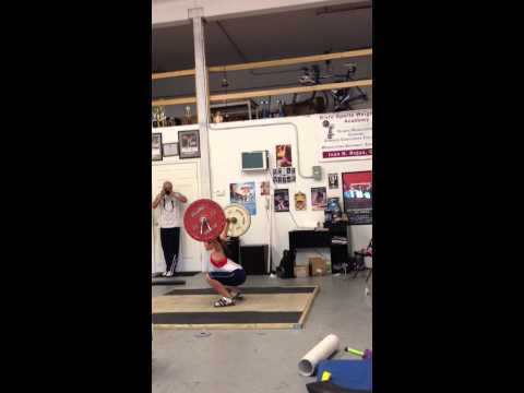 8 yr old LG snatch work out June 17, 2012