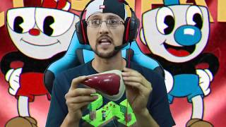 HE'S AFTER US! 👿 CUPHEAD Game: Be4 BENDY & the Ink Machine Got Spooky (FGTEEV Part 1 Gameplay)