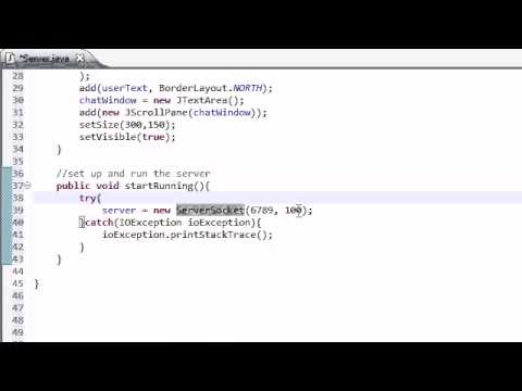 Intermediate Java Tutorial – 40 – Setting Up the Server