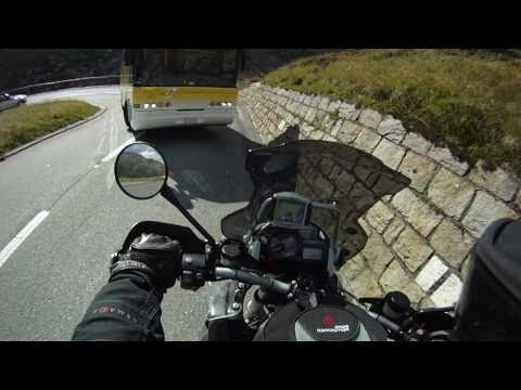 Just missing a coach bus coming around a 180 turn riding R1200GS in The Alps. Low speed, but tight.