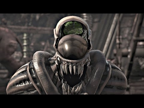 Mortal Kombat X - All Fatalities On Alien