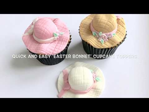 How to make a quick and easy 'Easter Bonnet' cupcake topper