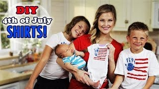 DIY 4th Of July Shirts!! Winston's First Craft!!