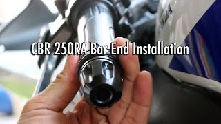 8. Bar Ends Install - Honda CBR 250R Motorcycle