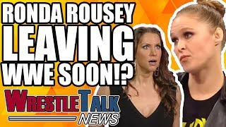 Ronda Rousey LEAVING WWE?! Backstage Unhappiness On Ronda Segment? | WrestleTalk News Jun 2018