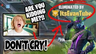 FORTNITE STREAMER ATTACK!!! You Have Been Eliminated by EvanTubeHD! (Stream Sniper Evan 2)